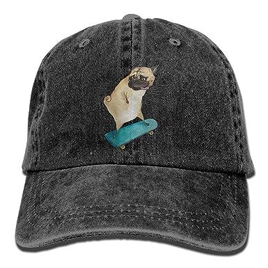 Mens Womens Hiphop Cap, Skateboard Dog Denim Fabric Hat For Men Girl Unisex: Amazon.es: Ropa y accesorios
