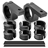 Nilight LED Light Bar Mounting Bracket Kit LED Off-Road Light Horizontal Bar Tube Clamp Roof Roll Cage Holder, 2 Years…