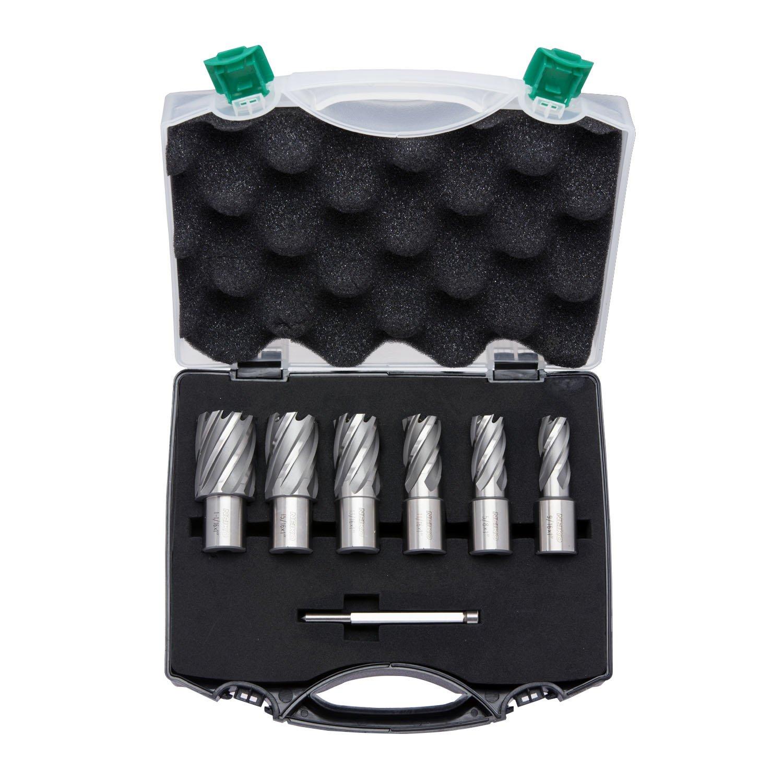 """6-Piece Set Neiko 10249A Premium Annular Cutter 9//16/"""" to 1-1//16/"""" M2 Cobalt HSS 1 Cutting Depth"""