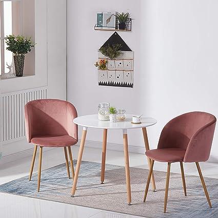 Grigio DORAFAIR Tavolo da Pranzo Rotondo Tavolino da Cucina Moderno con Gambe in Legno di faggio