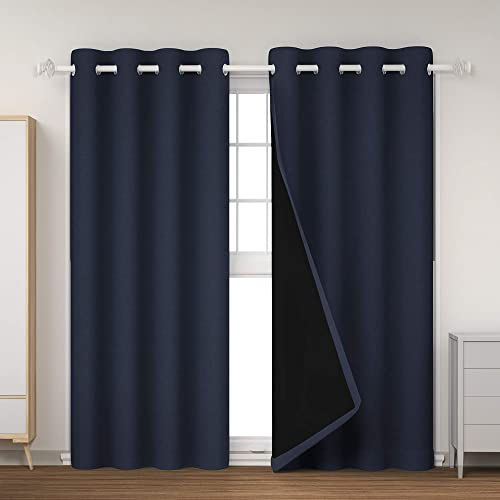 GRANDRE 100 Blackout Lined Curtains 2 Thick Layers Window Treatment - a good cheap window curtain panel