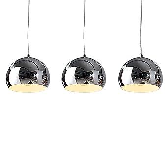 Designer Hangeleuchte Chromagon Chrom Kugelleuchte Lampe Leuchte