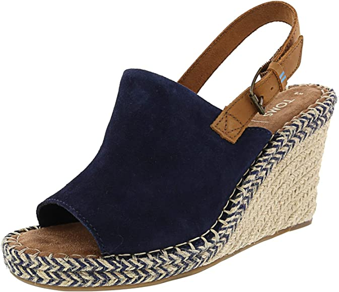 TOMS Monica Navy Suede/Leather
