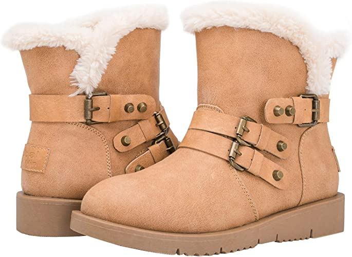 GLOBALWIN Women's 1836 Camel Winter Fashion Boots 6M