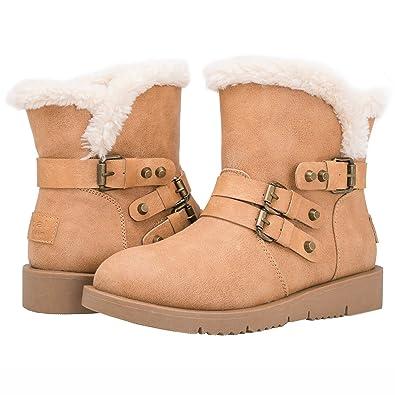 26c511e00a1 Amazon.com | Globalwin Women's 1836 Warm Winter Fashion Boots | Snow ...