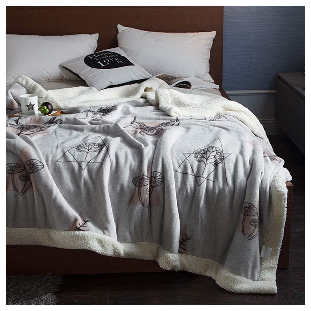 毛布を投げる スーパーソフトふわふわの居心地の良いフランネルナップソファベッドブランケット (サイズ さいず : 200*230センチメートル) B07H9XQ5PY  200*230センチメートル