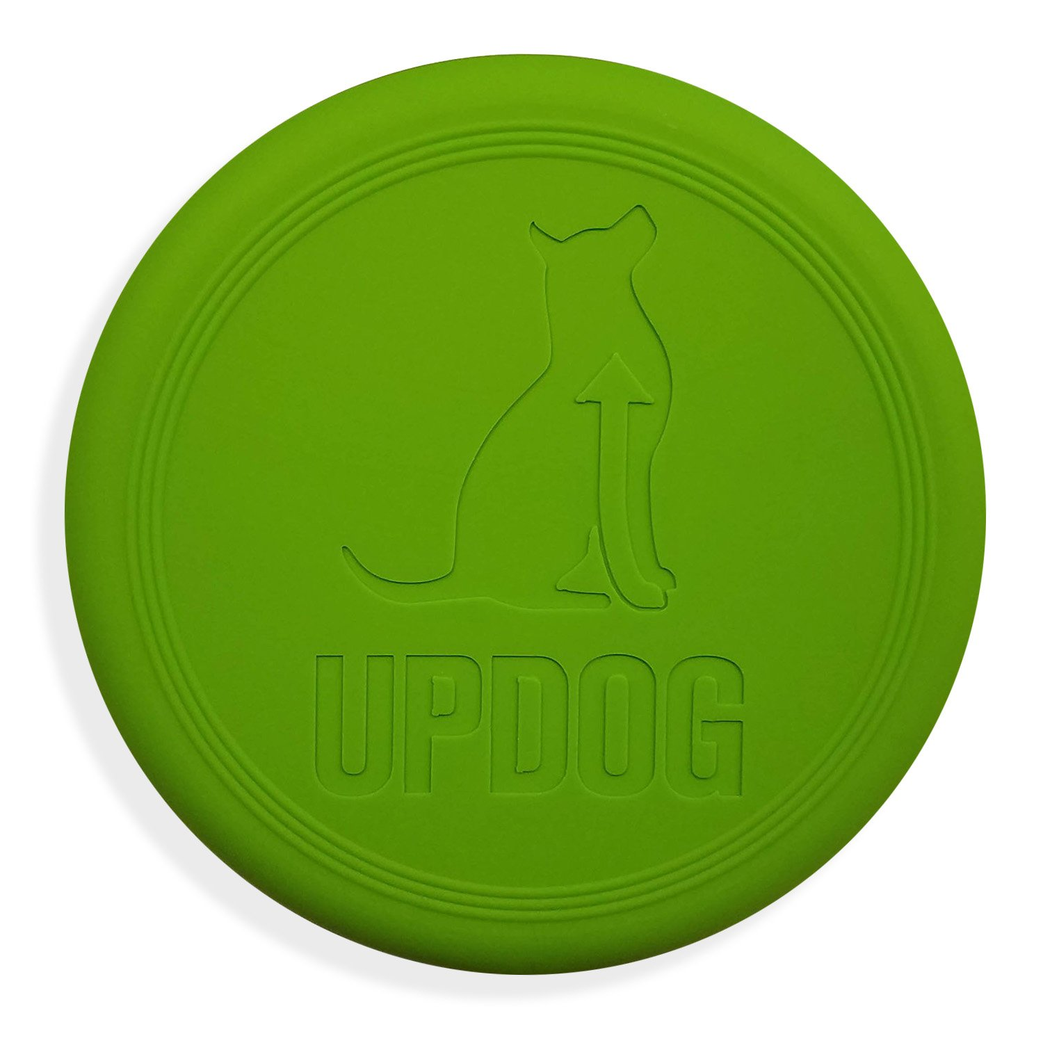 Dog Frisbee | Made in USA | UpDog Products Small 6-Inch Flying Disc for Dogs (Green)