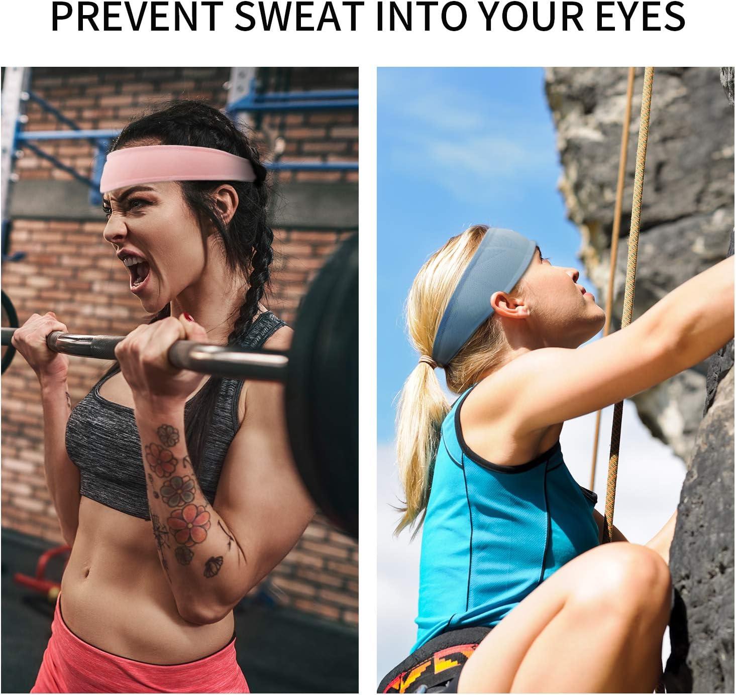 yoga tenis Diadema deportiva para hombre y mujer Linlook gimnasio ciclismo f/útbol baloncesto 3 unidades el/ásticas de secado r/ápido que absorben la humedad para correr