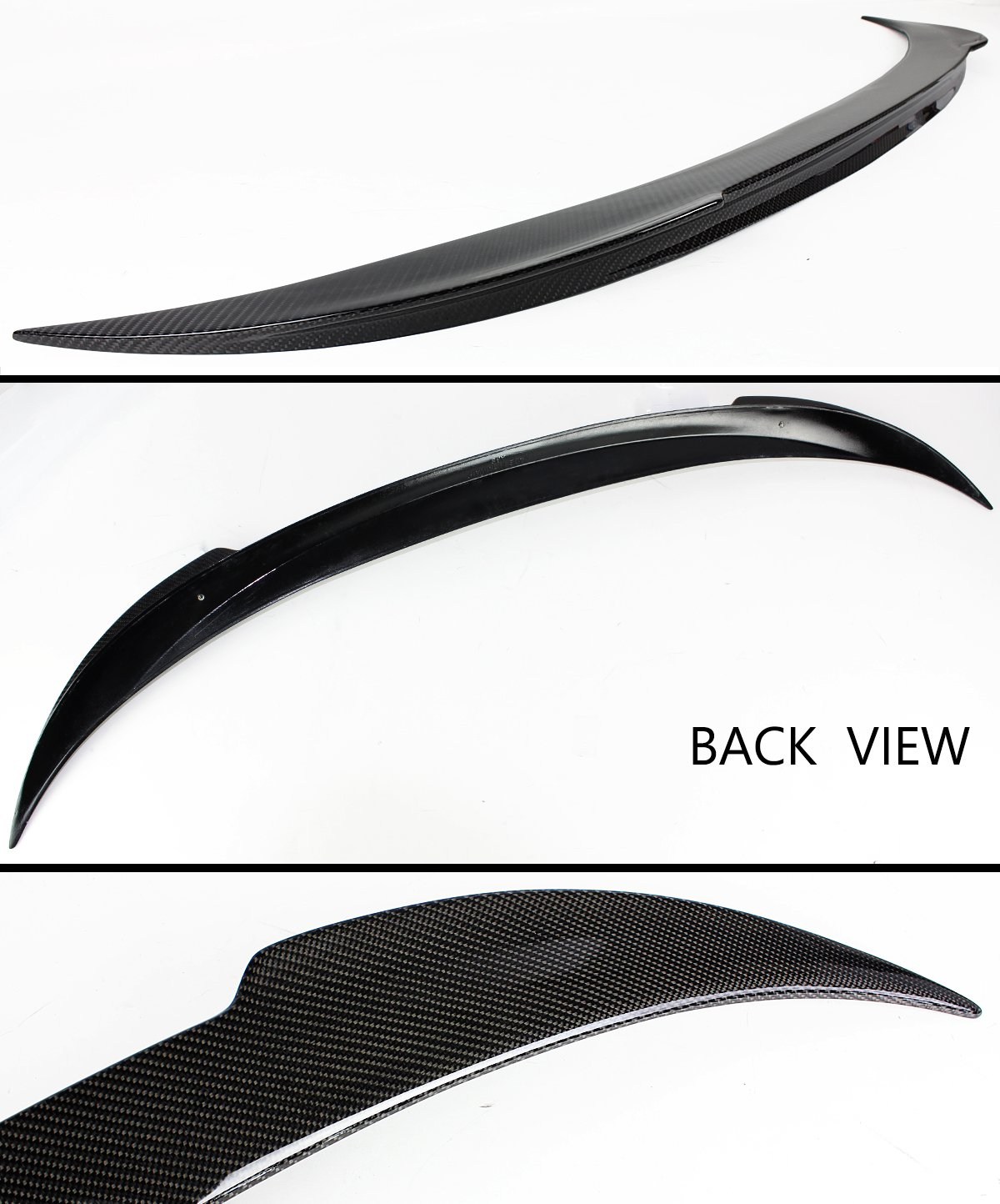 Cuztom Tuning Fits for 2012-2017 BMW F12 F13 640i 650i M6 Coupe /& Convertible V Style Carbon Fiber Trunk Spoiler Wing Lid