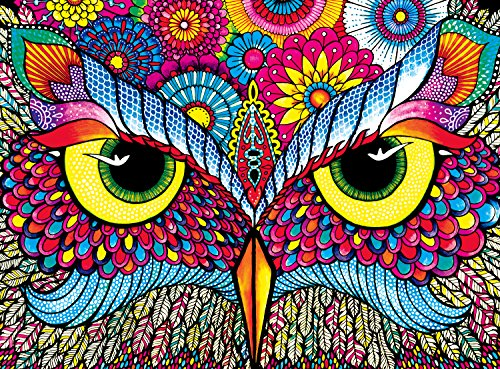 Price comparison product image Buffalo Games - Vivid Collection - Owl Eyes - 1000 Piece Jigsaw Puzzle