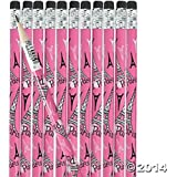 Pink I Love Paris Pencils, 24 Count