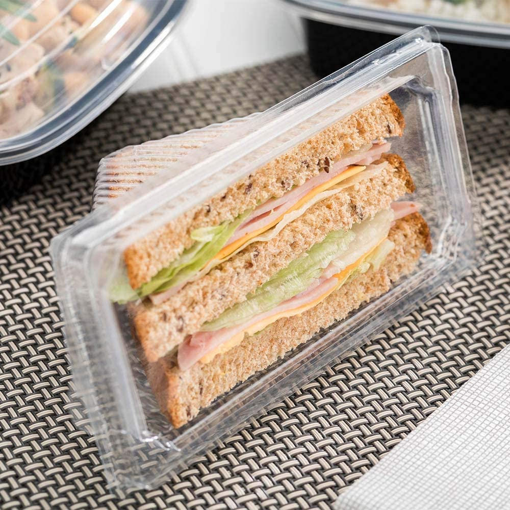 with Lid Restaurantware Thermo Tek 13 oz Semicircle Clear Plastic Swiss Roll Cake Box 5 1//2 x 3 1//2 x 3 1//4-100 count box