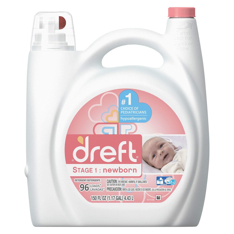 Ultra Laundry Detergent, Liquid, Baby Powder Scent, 150 oz Bottle, 4/Case, Lot of 1 by Dreft (Image #1)