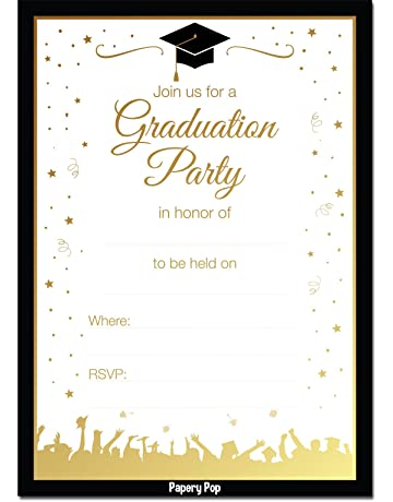 2019 Graduation Party Invitations With Envelopes 30 Pack