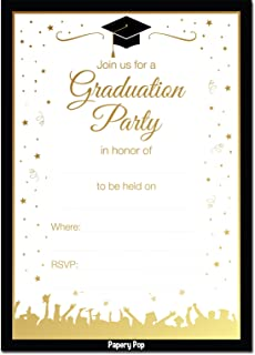 Amazoncom 2018 Black cap graduation invitationgreen tassel