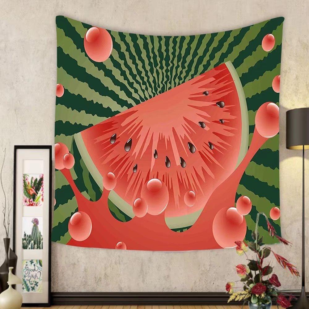 Gzhihine Custom tapestry Summer Tapestry Beach Fruit Vegetarian Garden Health Life Hot Season Image for Bedroom Living Room Dorm Olive Green Dark Coral Hunter Green