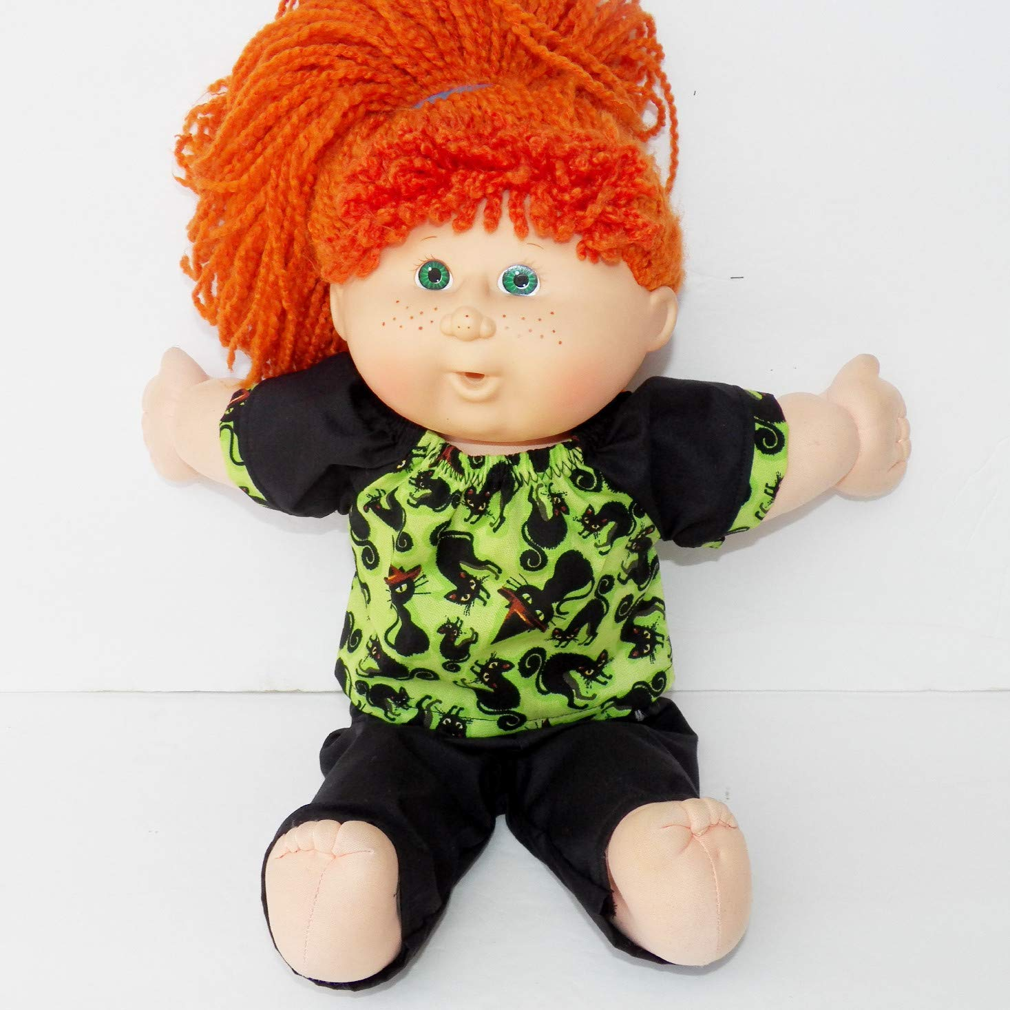 Cabbage Patch Doll Clothes 16 Inch Girl Size Black Halloween Cat Skirt Outfit No Doll