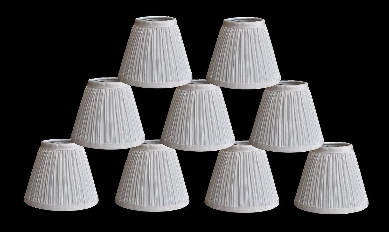 "Urbanest Random Mushroom Pleat Chandelier Lamp Shades,3/""x6/""x5/"",Burgundy,Set of 6"