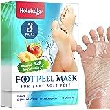HOTSTUFFZ Peach Foot Peel Mask - Effective For Cracked Heels Repair, Remove Dead Skin, Callus & Dry Toe Skin - Baby Soft Feet