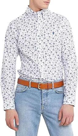 Polo Ralph Lauren Camisa Sailboat Azul Hombre XL Blanco: Amazon.es ...