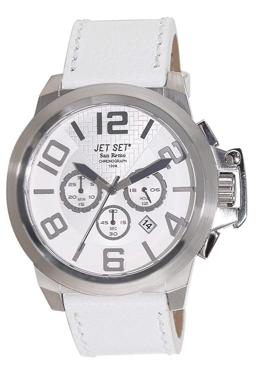 Jet Set Herren-Armbanduhr San Remo Chronograph Quarz Leder J61903-261