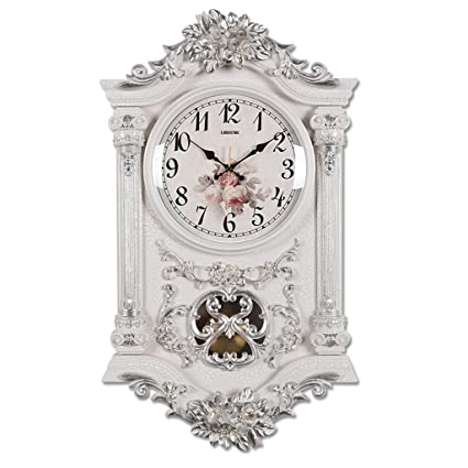 TIANT UK- Retro antiguos relojes de pared decorativos movimiento de cuarzo oscilante reloj de péndulo clásico ...