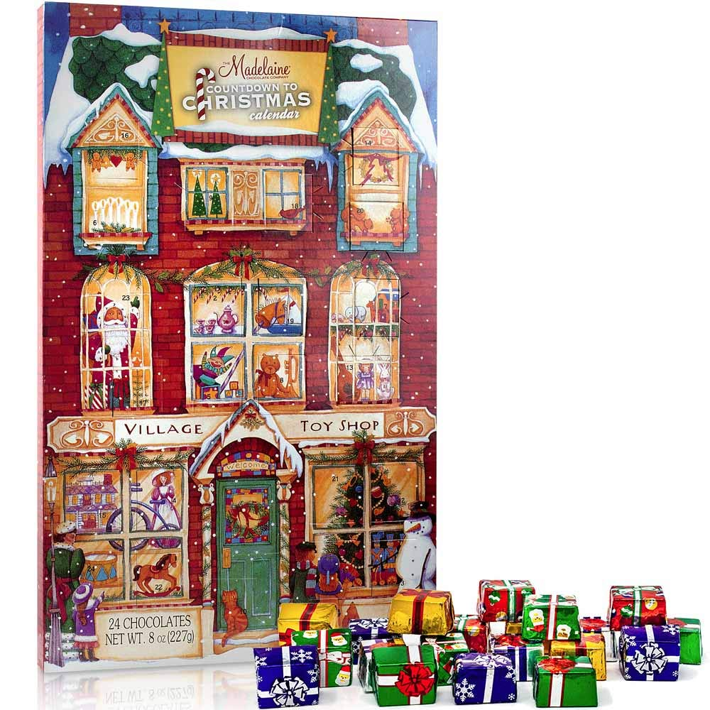 Madelaine Chocolate Advent Calendar With 24 Premium Milk Chocolates - 8 oz (226 grams)