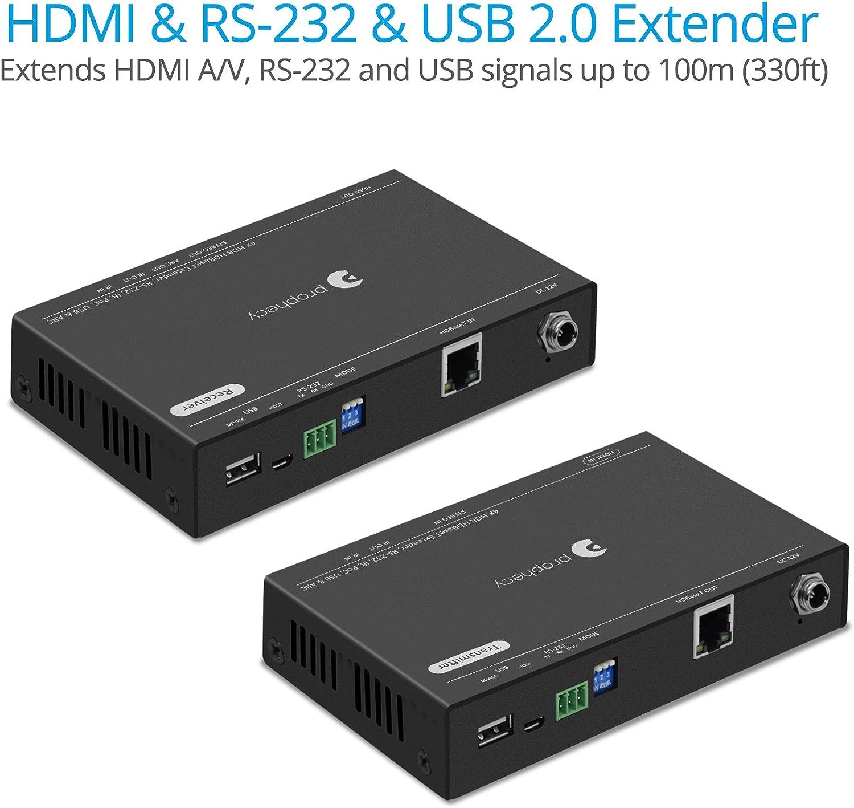 115ft 4K HDMI Extender Kit Transmitter Receiver PoC Cat6 Pro HDBaseT IR Remote