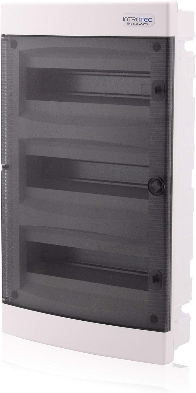 /Ø68/encastr/é IP40/locaux humides Bo/îtier de distribution 1/rang/ée 18/modules porte transparente