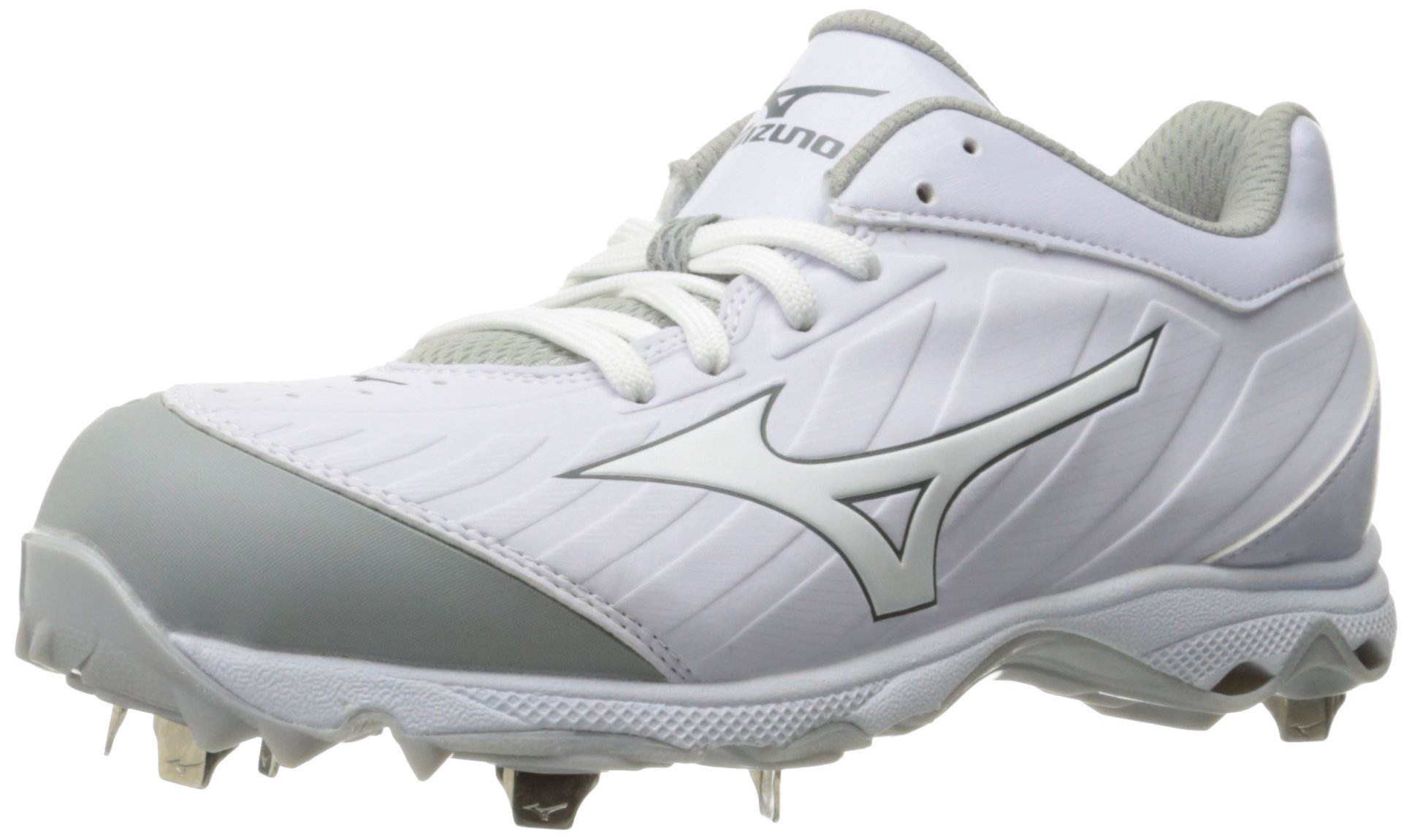 Mizuno Women's 9-Spike Advanced Sweep 3 Softball Shoe, White, 9 D US