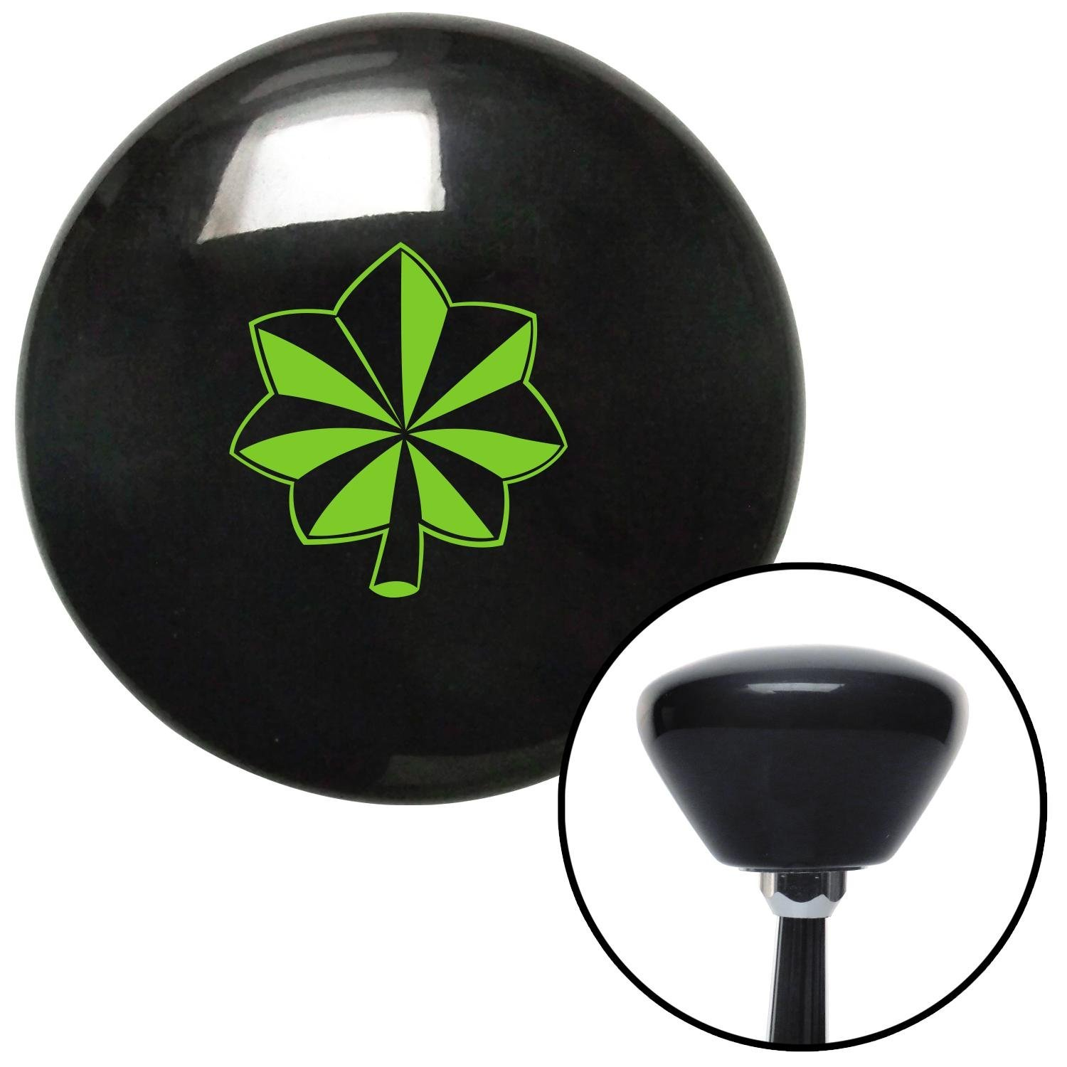 American Shifter 146960 Black Retro Shift Knob with M16 x 1.5 Insert Green Officer 04 and 05