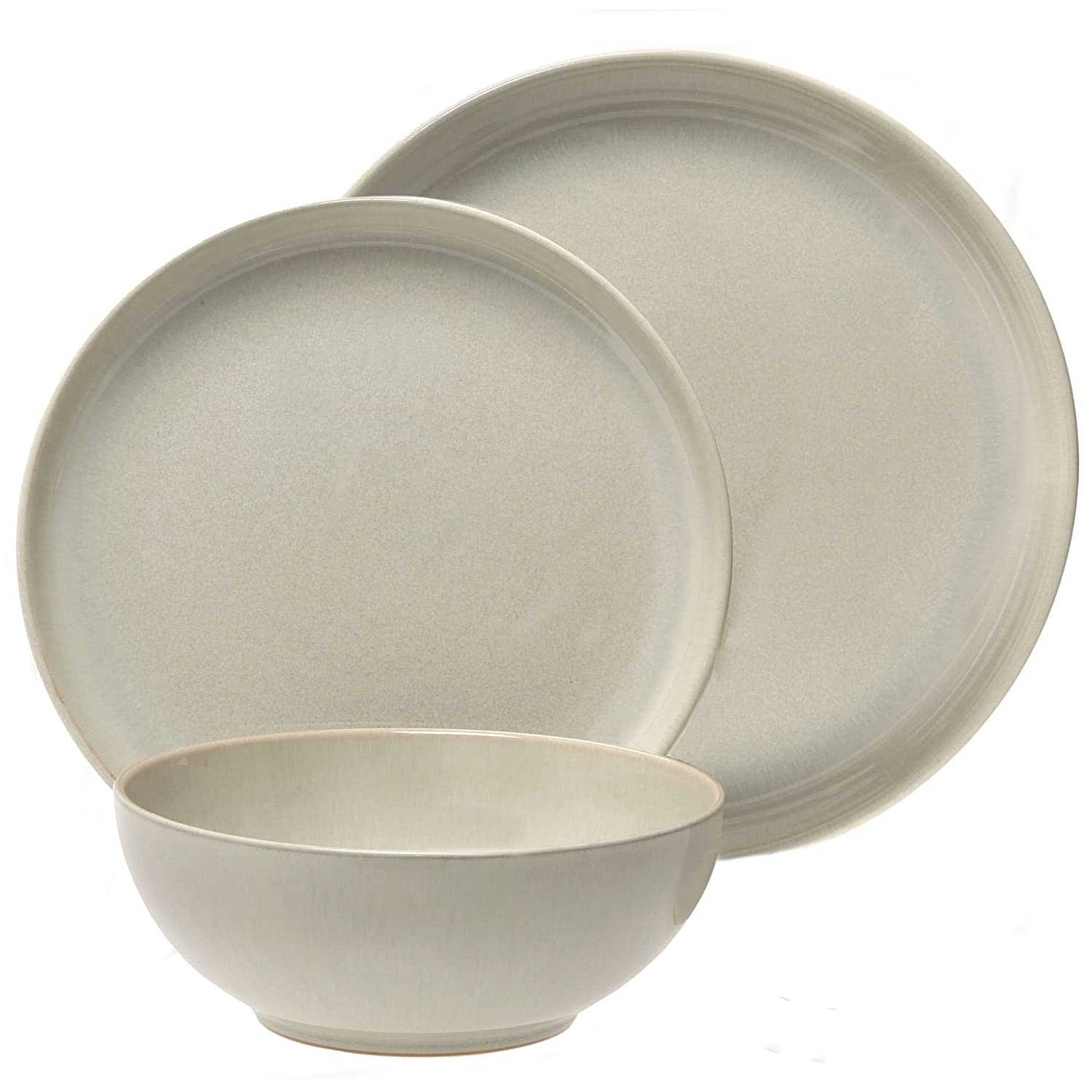 Denby 12-Piece Stoneware Linen Kitchen Collection Set, Beige 016042958