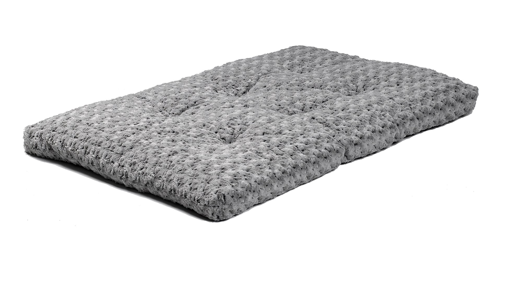 Plush Dog Bed | Ombré Swirl Dog Bed & Cat Bed | Gray 46L x 29W x 3H - Inches for XL Dog Breeds