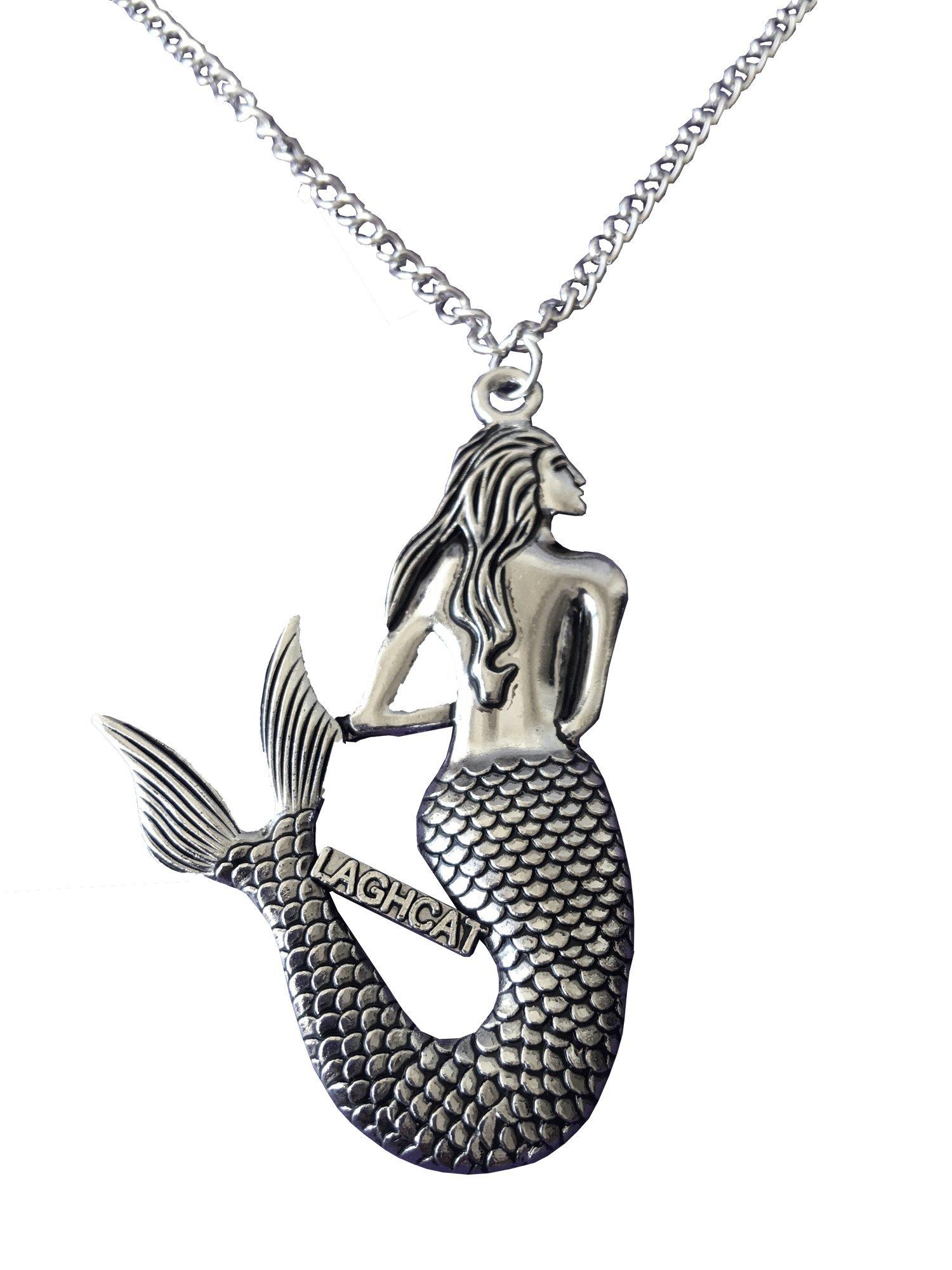 LAGHCAT Mermaid Silver Metal Necklaces (5 per package)