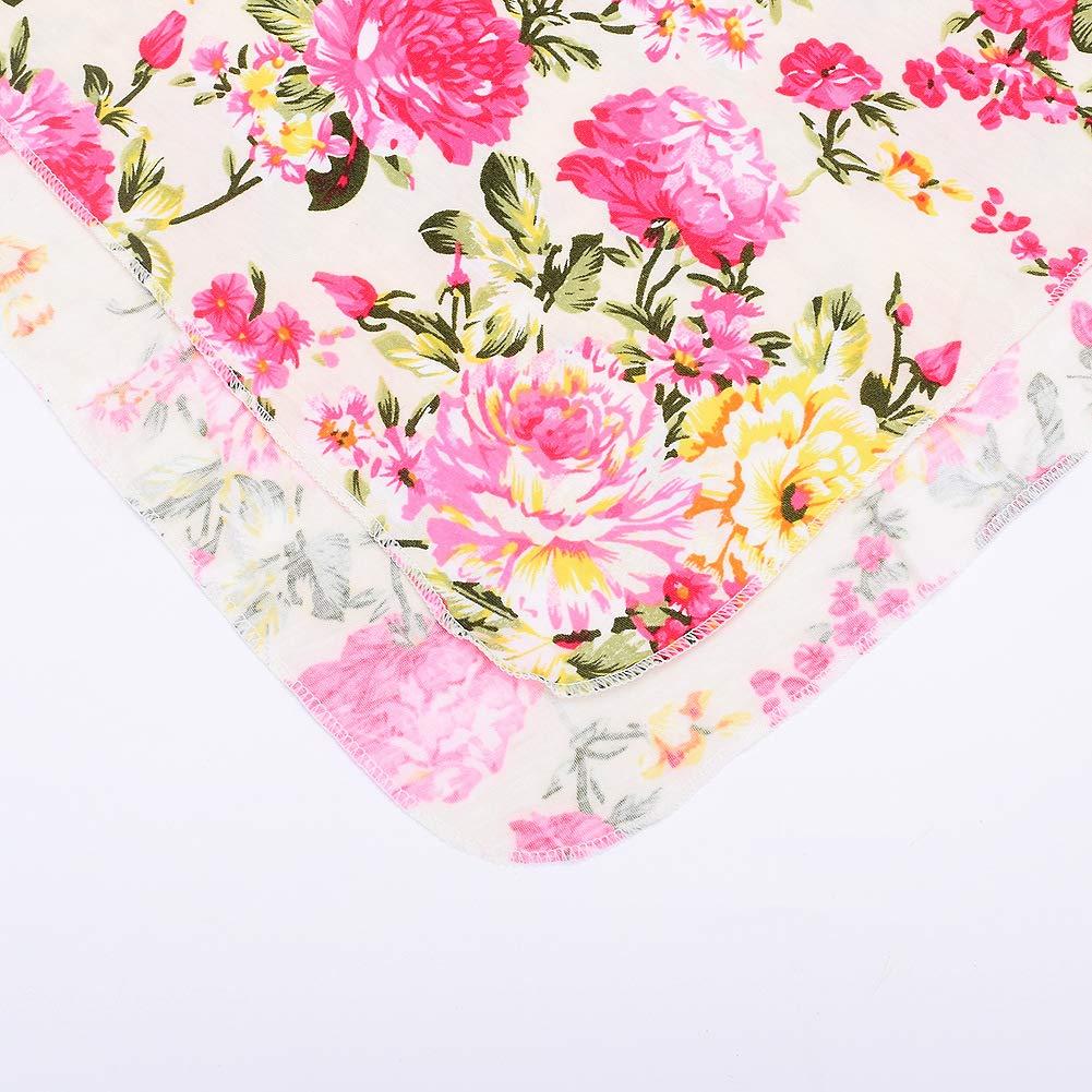 Juego de 3 juegos de manta y diadema Nerborn con estampado de flores para beb/é manta floral para beb/és para ni/ñas y ni/ños
