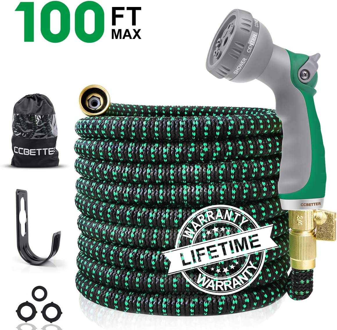 CCBETTER 100ft Garden Hose Leak Proof