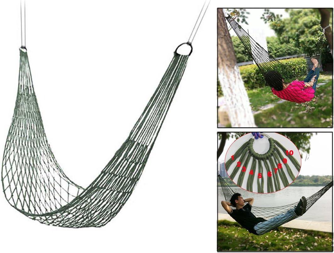 Itian® Deportes al Aire Libre Hamaca - Meshy Rope Hammock Sleeping Net Bed, Nylon paracaídas Hamaca portátil Doble Camping