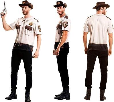 Yijja Fast Fun - Sheriff, camiseta de manga corta para adultos ...