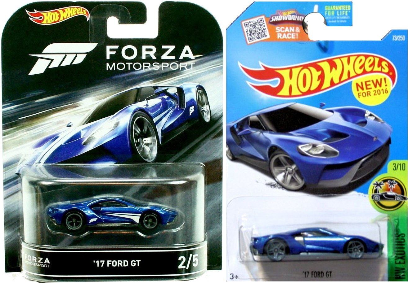 Amazon Com Hot Wheels Retro Entertainment Forza Motorsports  Ford Gt He Exotics   Ford Gt  Car Bundle Toys Games