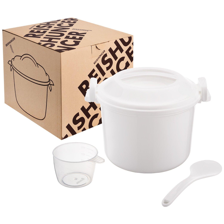 Reishunger Fornello di riso a microonde, 1,2 litri per un massimo di 4 persone, anche per quinoa, cous cous e patate, senza BPA