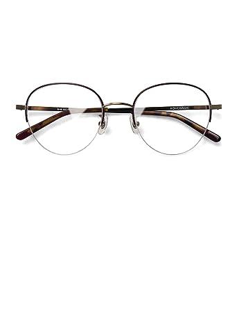 cdde55921e6b1 Komehachi - Women Semi-Rimless Retro Vogue Round Slim Cute Eyeglasses Frames  with Prescription Ready