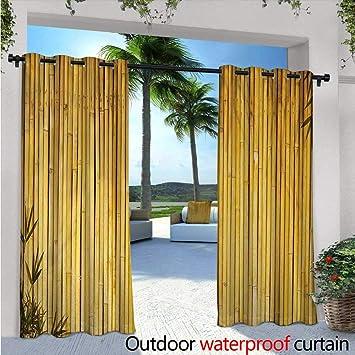 Balinese - Cortina de privacidad para pergola y un pequeño Templo en Selva, diseño de Cascada de pérgola y Medio Ambiente Natural, Aislante térmico, Repelente al Agua, para balcón, Color Verde: Amazon.es: