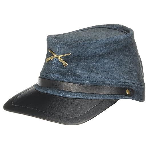 Cappellishop Cappello da Nordista in Pelle Cappelli storici Americano  Taglia Unica - Blu aa5cd654ac6e