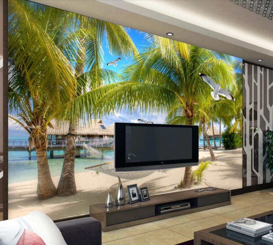 Fototapete 3D Effekt Tapete Tapete Tapete Kokosnussbaum Auf High - Definition - Seaside Beach Vliestapete 3D Wallpaper Moderne Wanddeko Wandbilder B07MVVZVH2 Wandtattoos & Wandbilder 5286b7