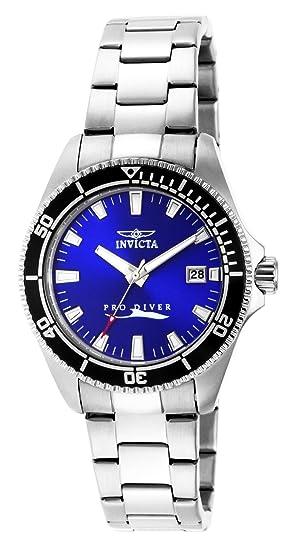 Invicta 15136 Pro Diver Reloj para Mujer acero inoxidable Cuarzo Esfera azul   Invicta  Amazon.es  Relojes decc9830a203