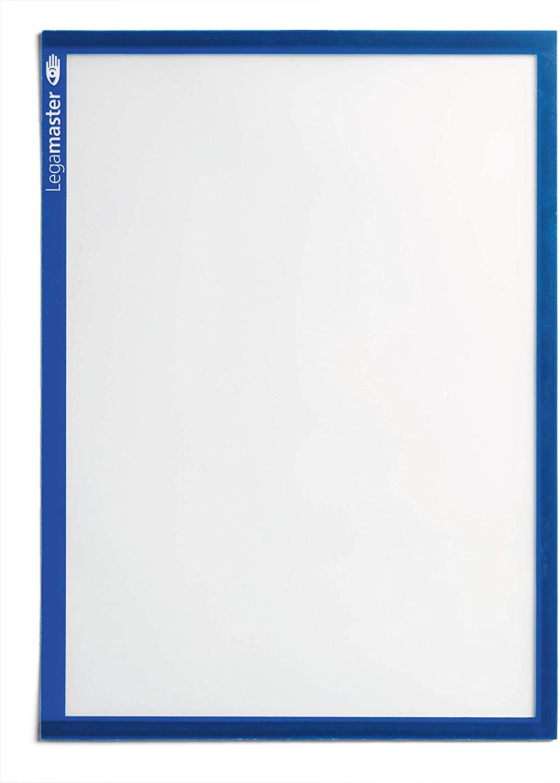 DIN A4 transparente PVC-Fl/äche 5 St/ück blauer Rahmen Legamaster 7-635603 Magnetische Dokumentmappen
