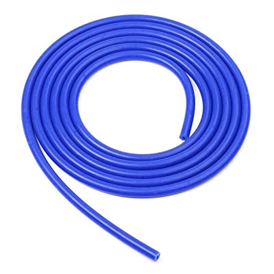 LTI Universal 5 Feet Length Universal 3mm (1/8 Inch) Inner Diameter High Performance Silicone Vacuum Hose Line (3MM, Blue): Automotive