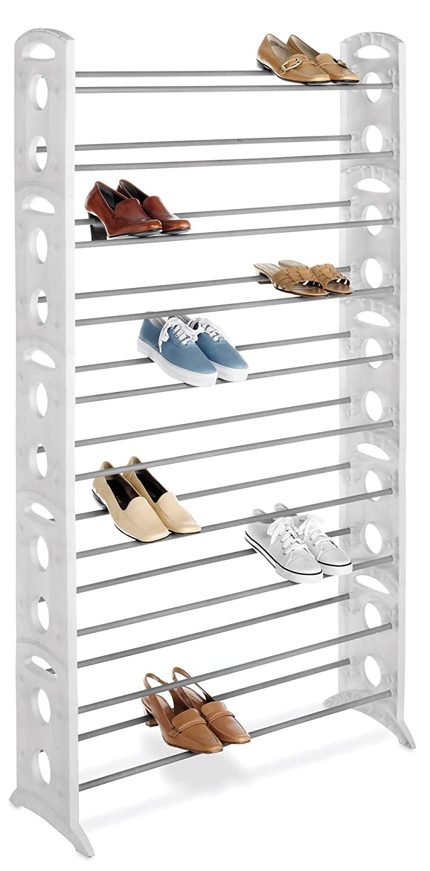 Amazon.com: Whitmor Floor 50 Pair Shoe Tower 10 Tier White: Home U0026 Kitchen