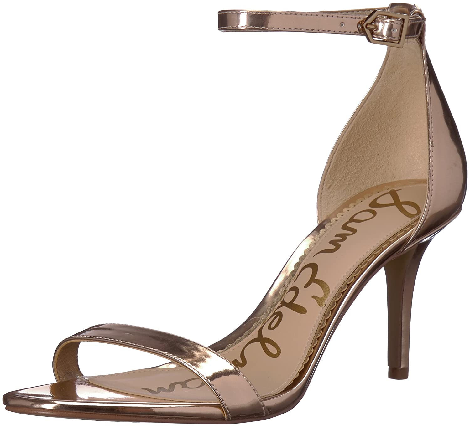 Sam Edelman Women's Patti Heeled Sandal B072W34HNN 5 B(M) US|Oro Remato Liquid Metallic