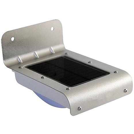 zlcm lámpara solar con detector de movimiento impermeable/resistente al calor inalámbrico iluminación de seguridad